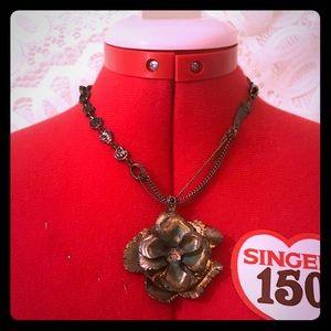 Lucky Brand Chunky Rose Necklace